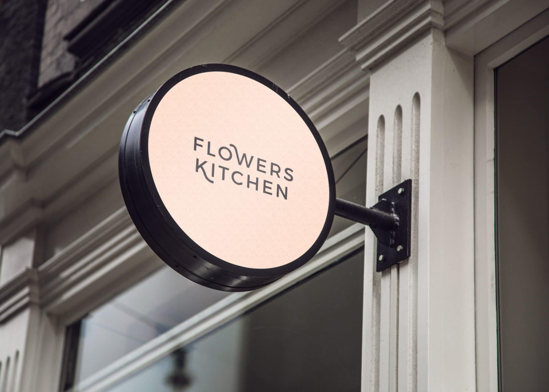 Flowers-Kitchen-Kinlake-Hanging-Wall-Sign-MockUp-3